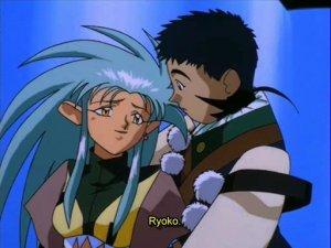 Tenchi holds Ryoko-Zero